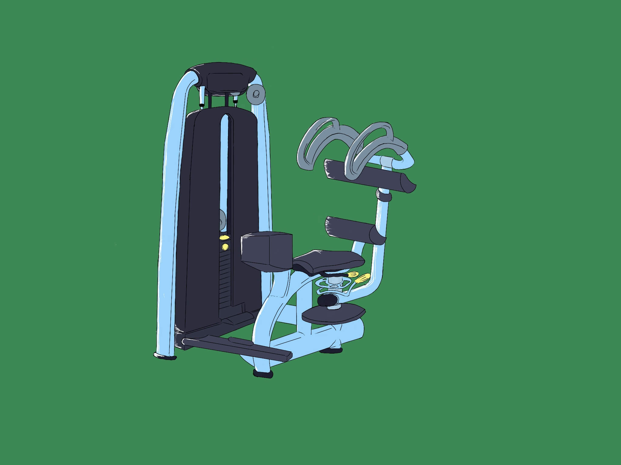 腹斜筋のマシンはロータリートーソ!お腹周りにくびれを作る!