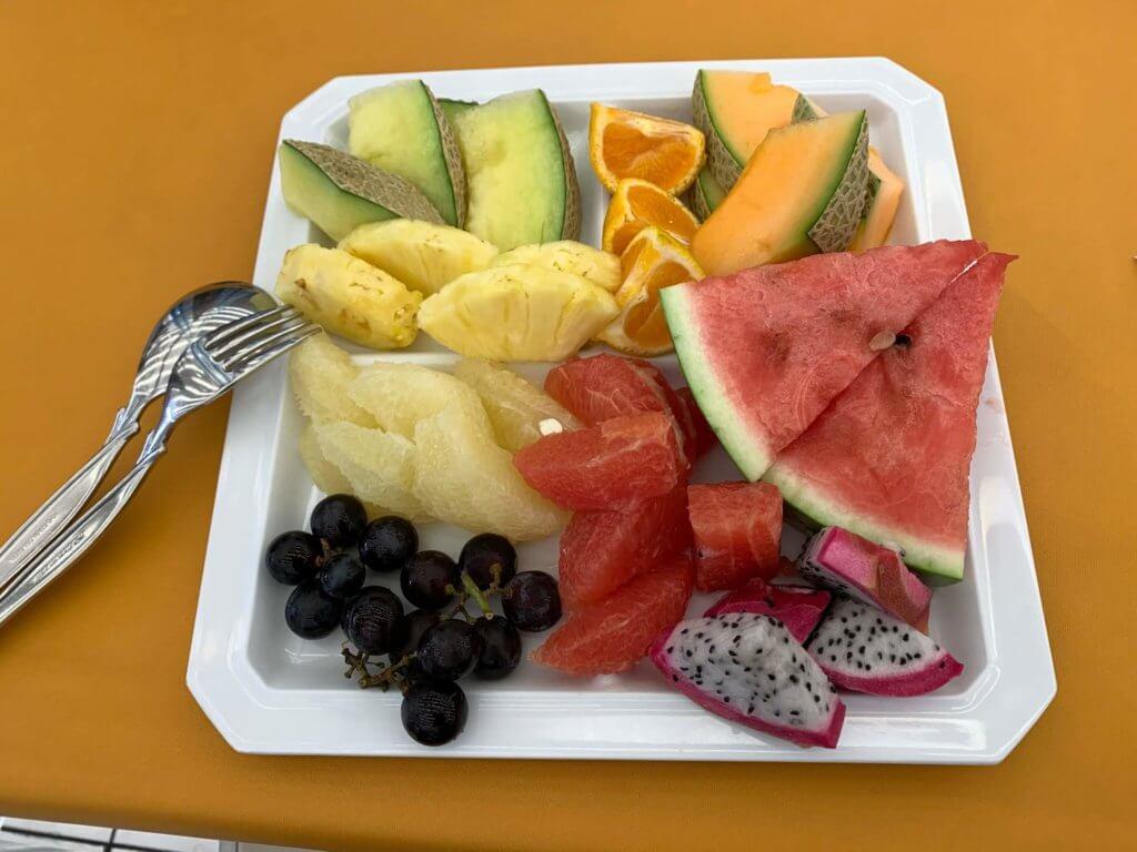 フルーツ食べ放題の様子